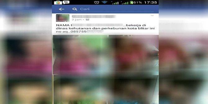 Foto Bugil PNS Wanita Blitar Tersebar di Facebook