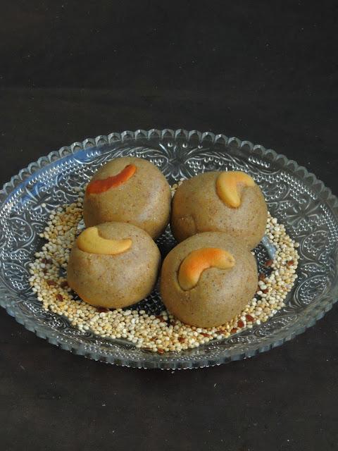 Quinoa flaxseeds sweet balls