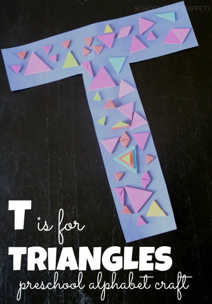 Letter T is for Triangles Craft