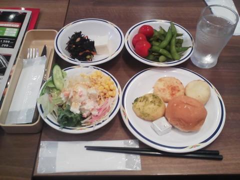 健康サラダバーランチ¥647-1 ステーキガスト一宮尾西店5回目