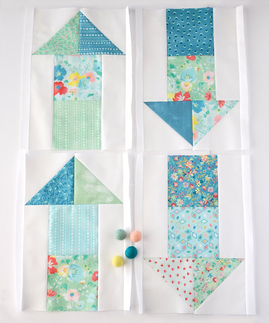 On The Move quilt blocks from the Charming Baby Quilts book by Melissa Corry - blocks found on A Bright Corner