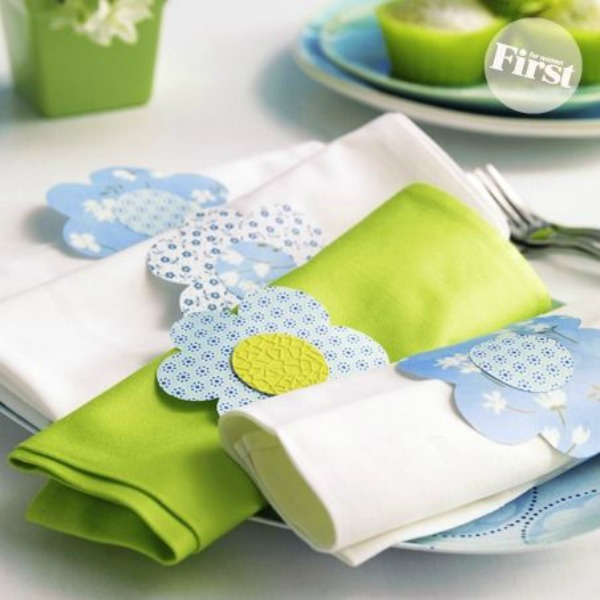 Daisy Napkin Rings from First for Women