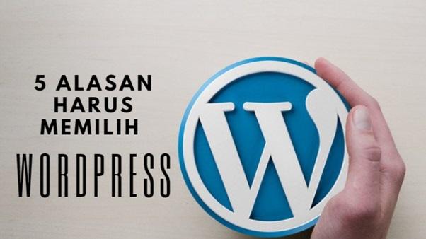 5 Alasan Harus Memilih WordPress