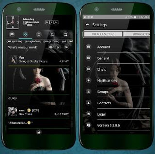 BBM MOD Black Angel Transparan Theme v3.2.0.6 APK