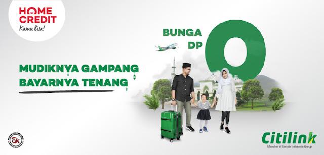 #Citilink - #Promo Mudik Gampang Bayar Tenang Pakai Cicilan Home Credit (s.d 30 Juni 2019)