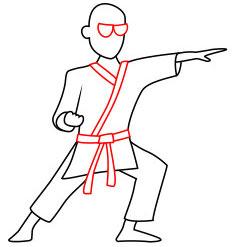 Langkah 6. Super Simpel Menggambar Karateka