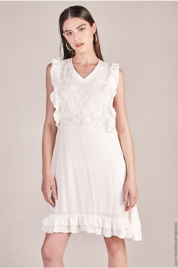 Moda verano 2018 mujer: vestidos cortos y largos marca Sweet Argentina. Moda 2018.