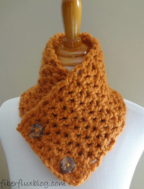 Fiber Flux Free Crochet Patternbutternut Squash Neck Warmer