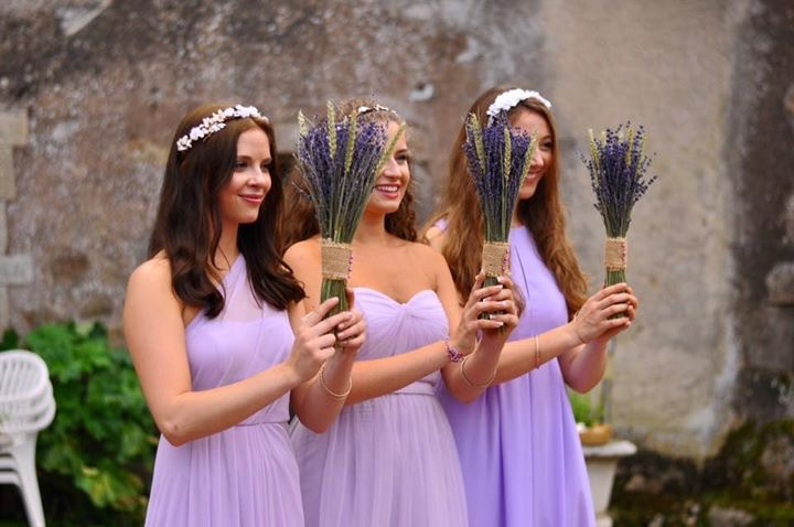 Wedding Flower Ideas, DIY Wedding flowers, lavender bouquet
