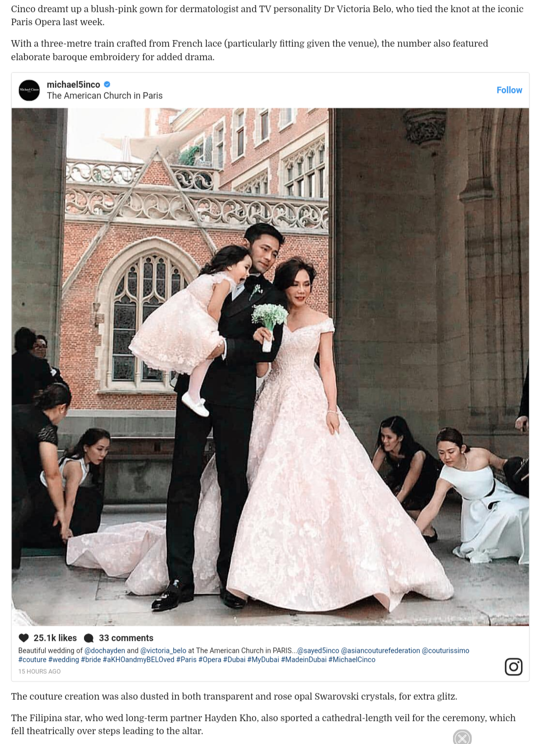 Fashion Pulis International Websites Feature Wedding Gown Of Vicki
