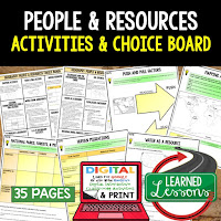 People and Resources, World Geography Graphic Organizers, World Geography Digital Interactive Notebook, World Geography Summer School, World Geography Google Activities