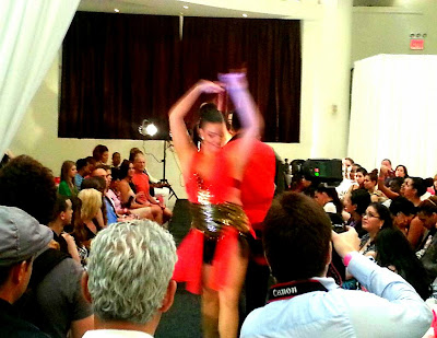 Piel Canela Dancers kick off the runway show for Cesar Galindo at Latinista Fashion Week in NYC