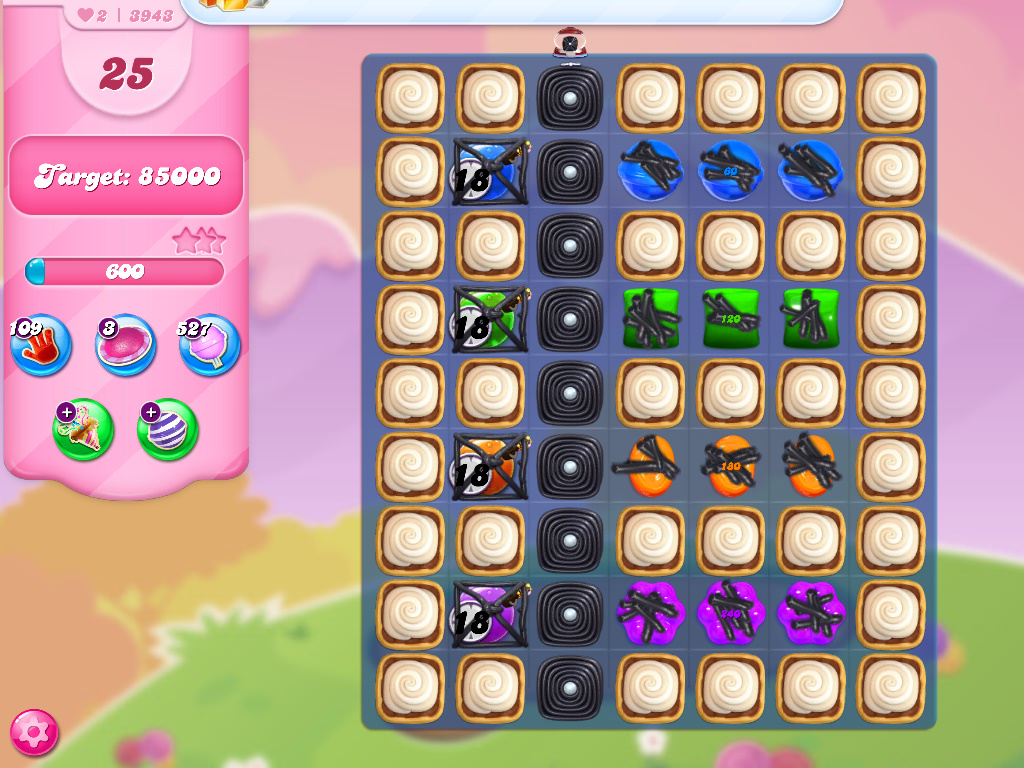 Candy Crush Saga level 3943