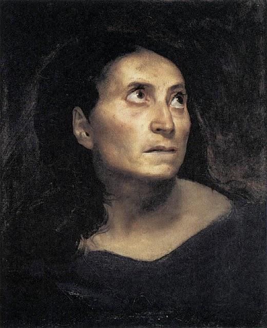 Cabeça de uma Mulher - Delacroix, Eugène e suas principais pinturas ~ Romantismo francês