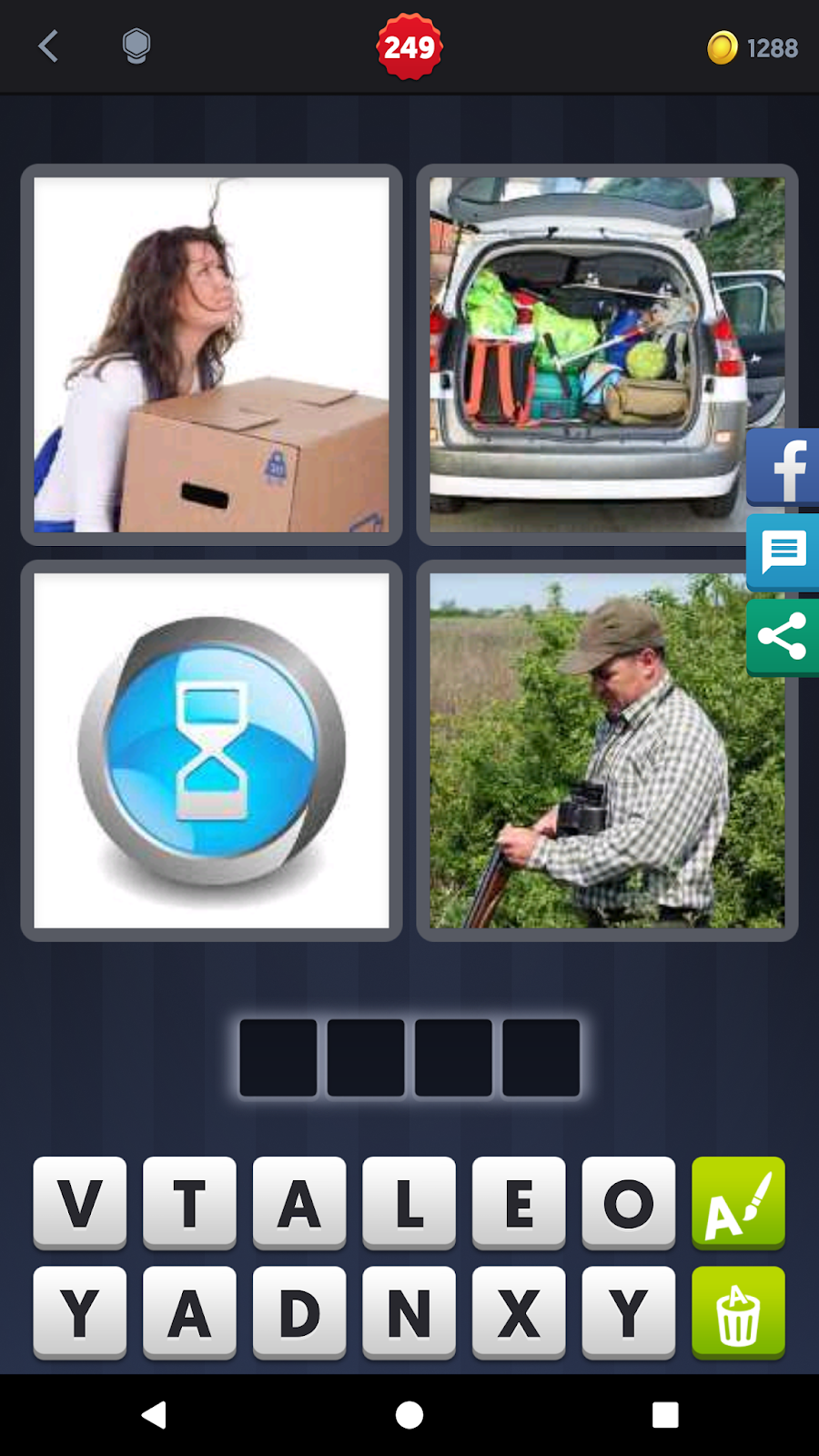 4 Pics 1 Word Answers Solutions Level 249 Load