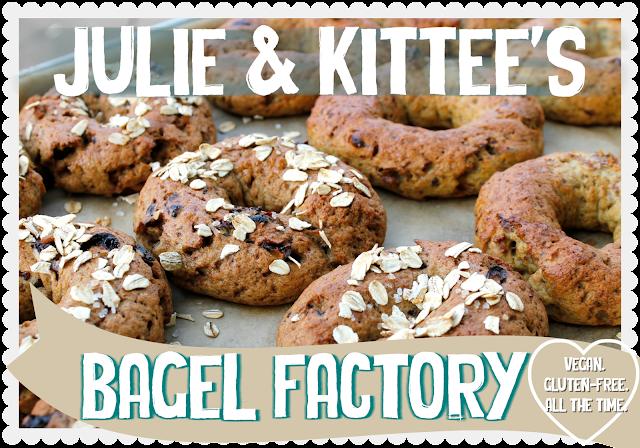julie hasson, kittee berns, julie and kittee, vegan, gluten-free, recipes, cooking classes, bagels