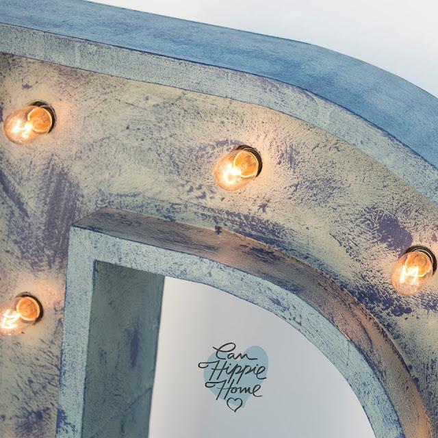 Artesanos de letras de madera: Can Hippie Home-11