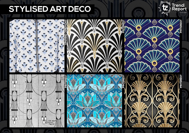 Textile design, print design, textile candy, trend forecasting, trend prediction, WGSN, premiere vision, printed fashion, fashion print, AW17-18, Autumn/Winter fashion trends, trend report, tc, opening ceremony, art deco, stylised art deco, art deco architecture, 1930s design, 1930s art