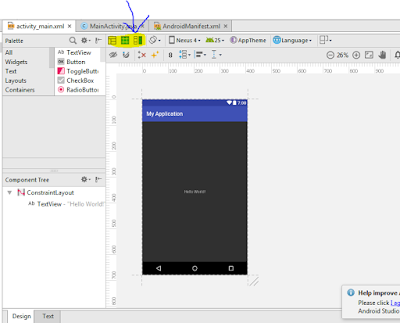 design and blue print in android studio