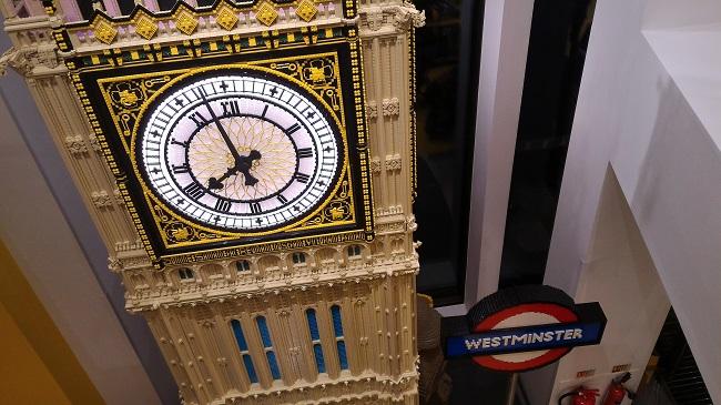Tienda de Lego en Londres - Big Ben con piezas de Lego