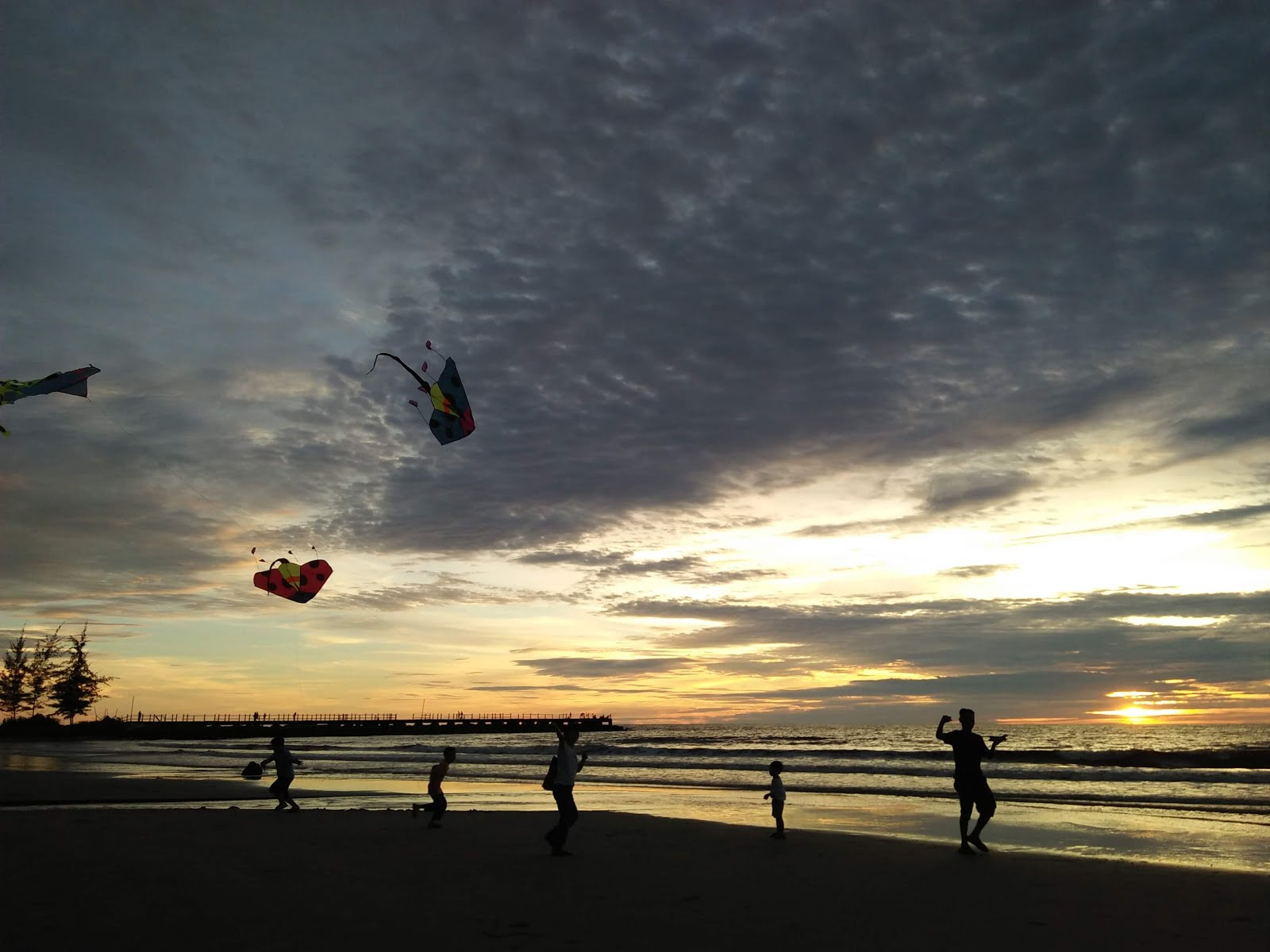 sunset, view, tanjung lobang