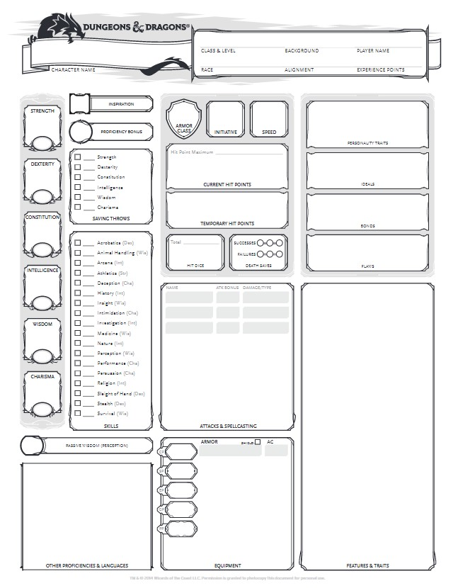 D&D 5.0 manuals and others