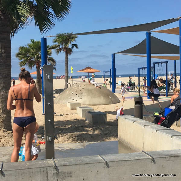 kid's playground at Annenberg Community Beach House in Santa Monica, California