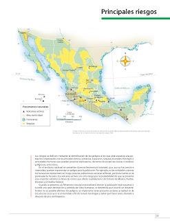 Apoyo Primaria Atlas de México 4to Grado Bloque II Lección 16 Principales riesgos