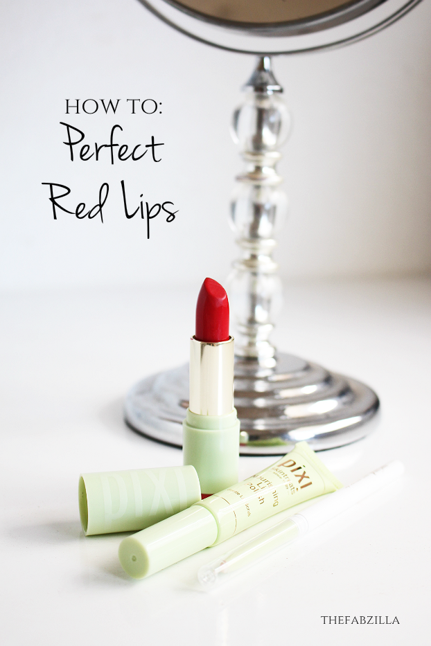 how to perfect red lips, how to wear red lipstick, tips to wear red lipsticks, pixi nourishing lip polish, pixi contour lip line invisible smudge stopper