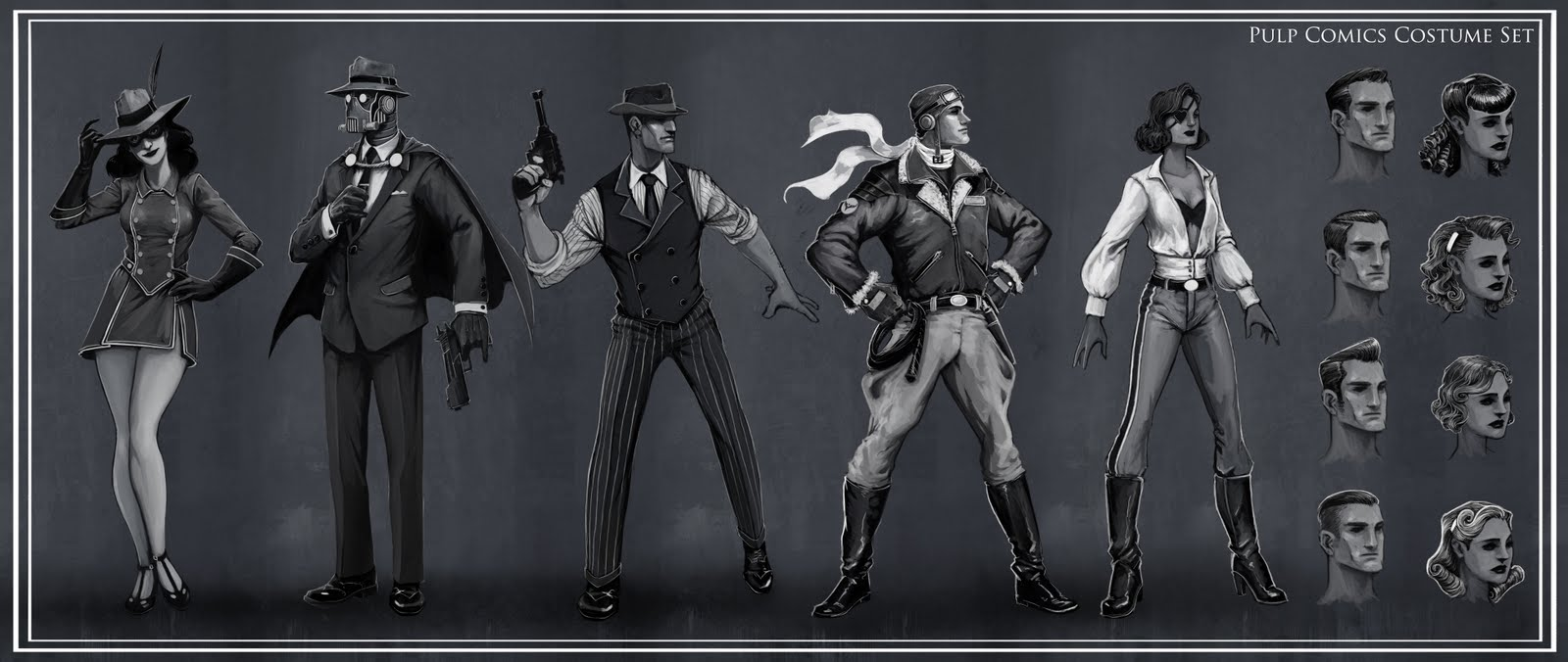 The Art Of Jag Champions Online Costume Sets