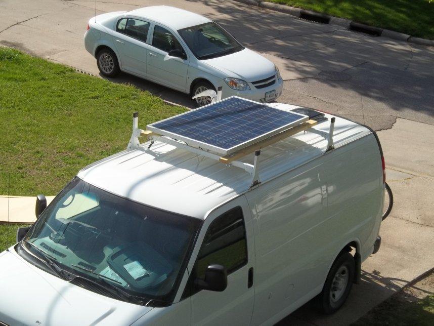 Added Solar Capabilty To The Van Van Trekker
