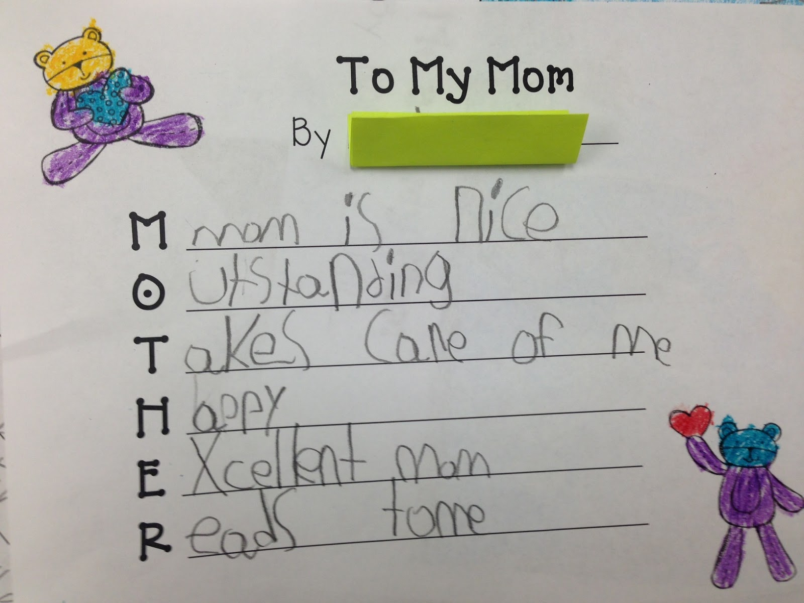 List Of Synonyms And Antonyms Of The Word Mother Acrostic