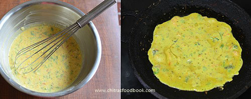 Besan tomato omelette recipe