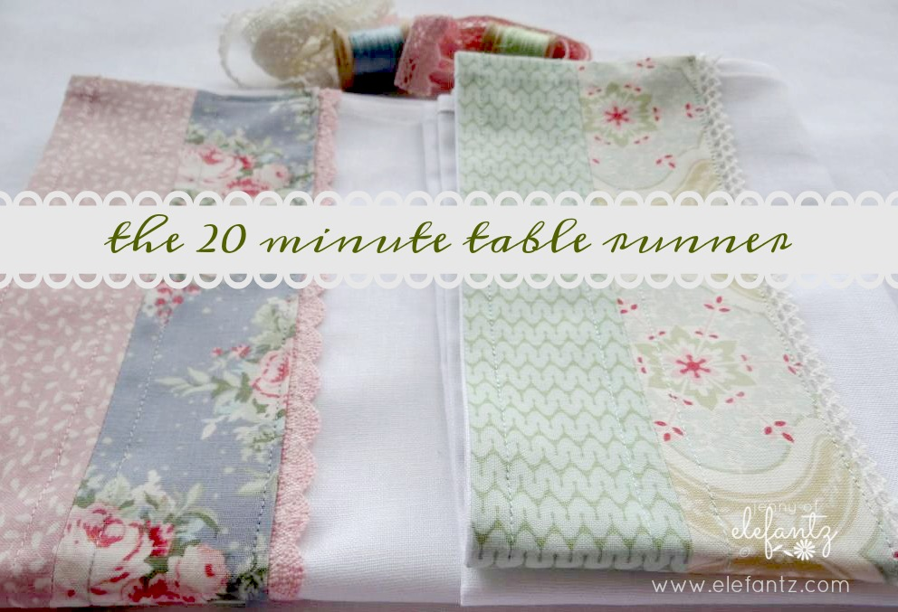 Very Simple And Quick Table Runners But I Do Love The Clean Lines Of White Es Linen In These Two So M Going To Make More As Christmas Gifts