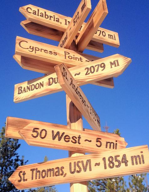 Cedar Wood Direction Yard Sign