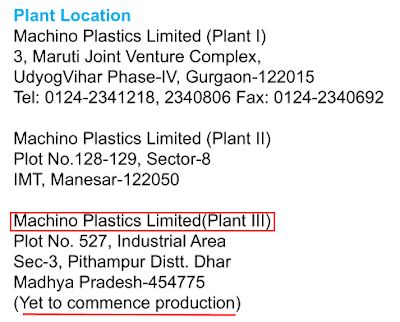 Analysis Equity Research Report Machino Plastics Ltd, manufacturing injection plastic moulded parts for Maruti Suzuki India, Suzuki Motorcycle India, Volvo Eicher, Hero Motors, Caparo Maruti Ltd