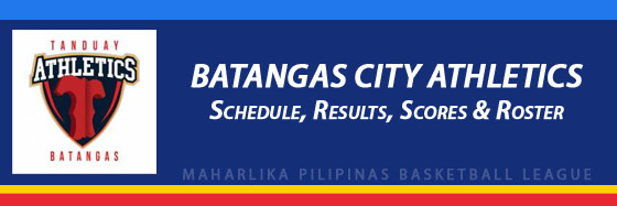 MPBL: Batangas City Athletics Schedule, Results, Scores, Roster