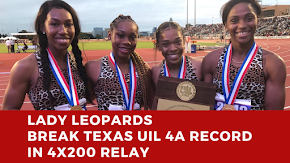 Liberty-Eylau's Lady Leopards set UIL 4A record in 4x200 meter team relay