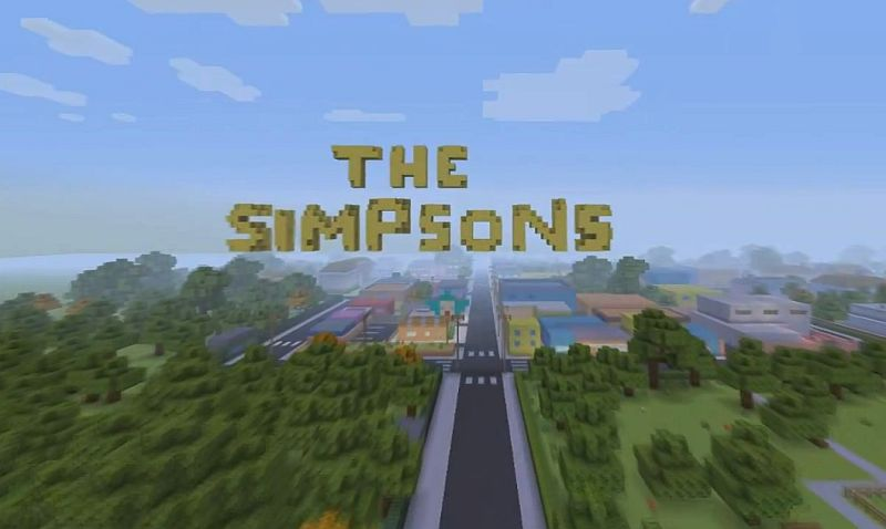 The Simpsons Intro und  interaktive Stadttour in Minecraft