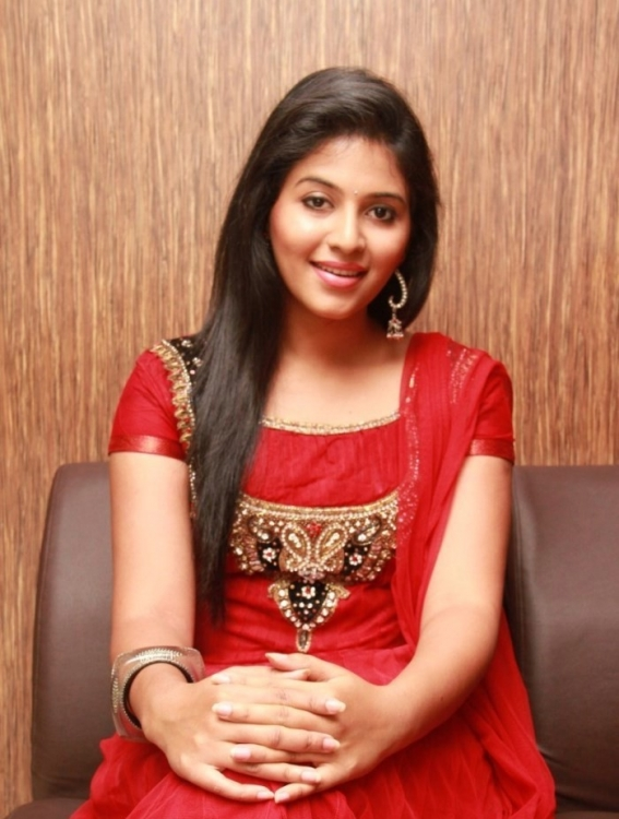 scenic and Cute anjali in red dress