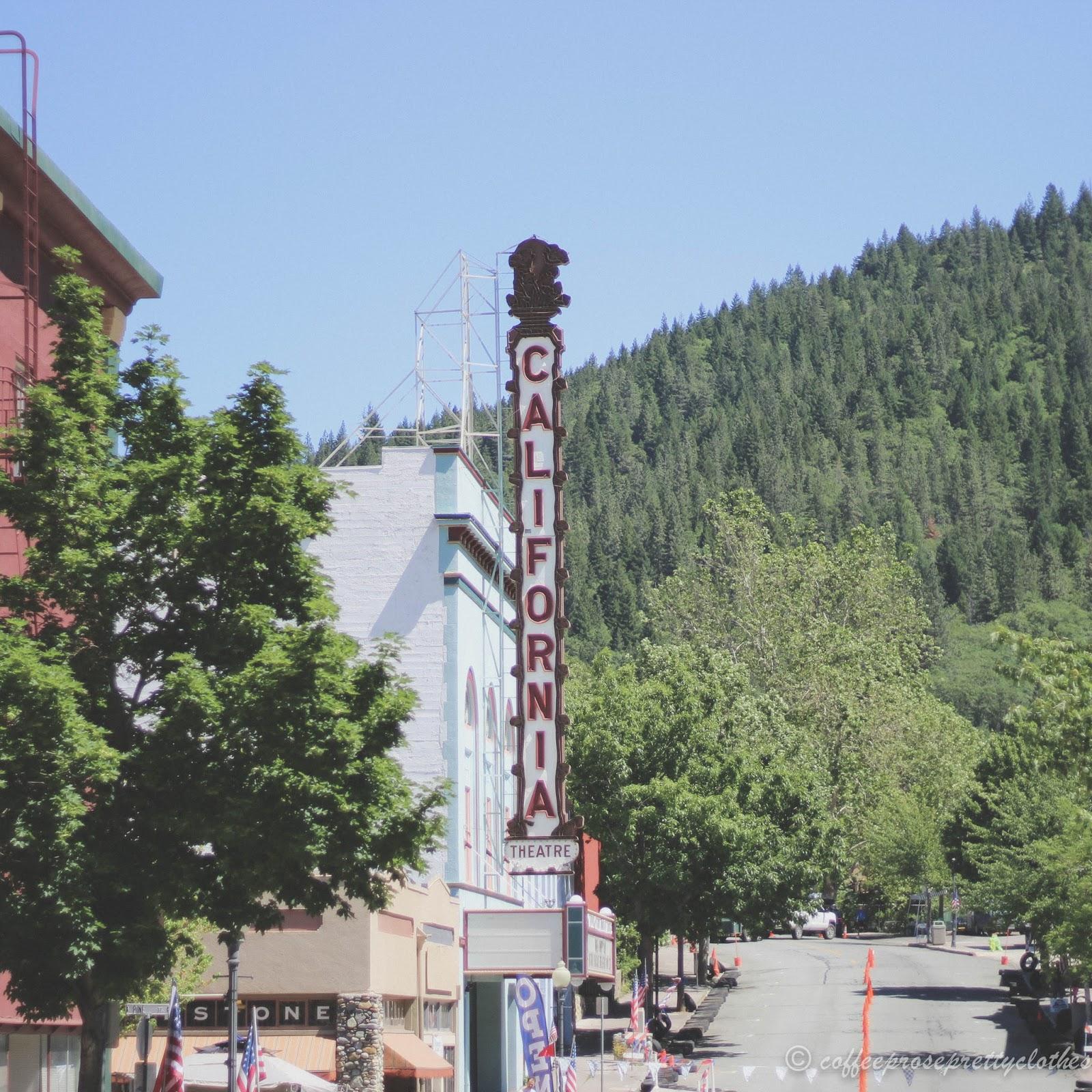 California Theater sign in Dunsmuir, CA