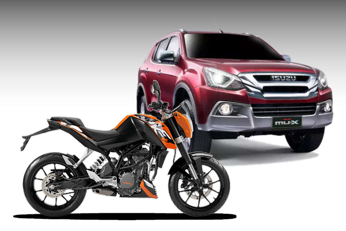 buy an isuzu mu x get a ktm motorcycle for free yes we 39 re serious philippine car news car. Black Bedroom Furniture Sets. Home Design Ideas