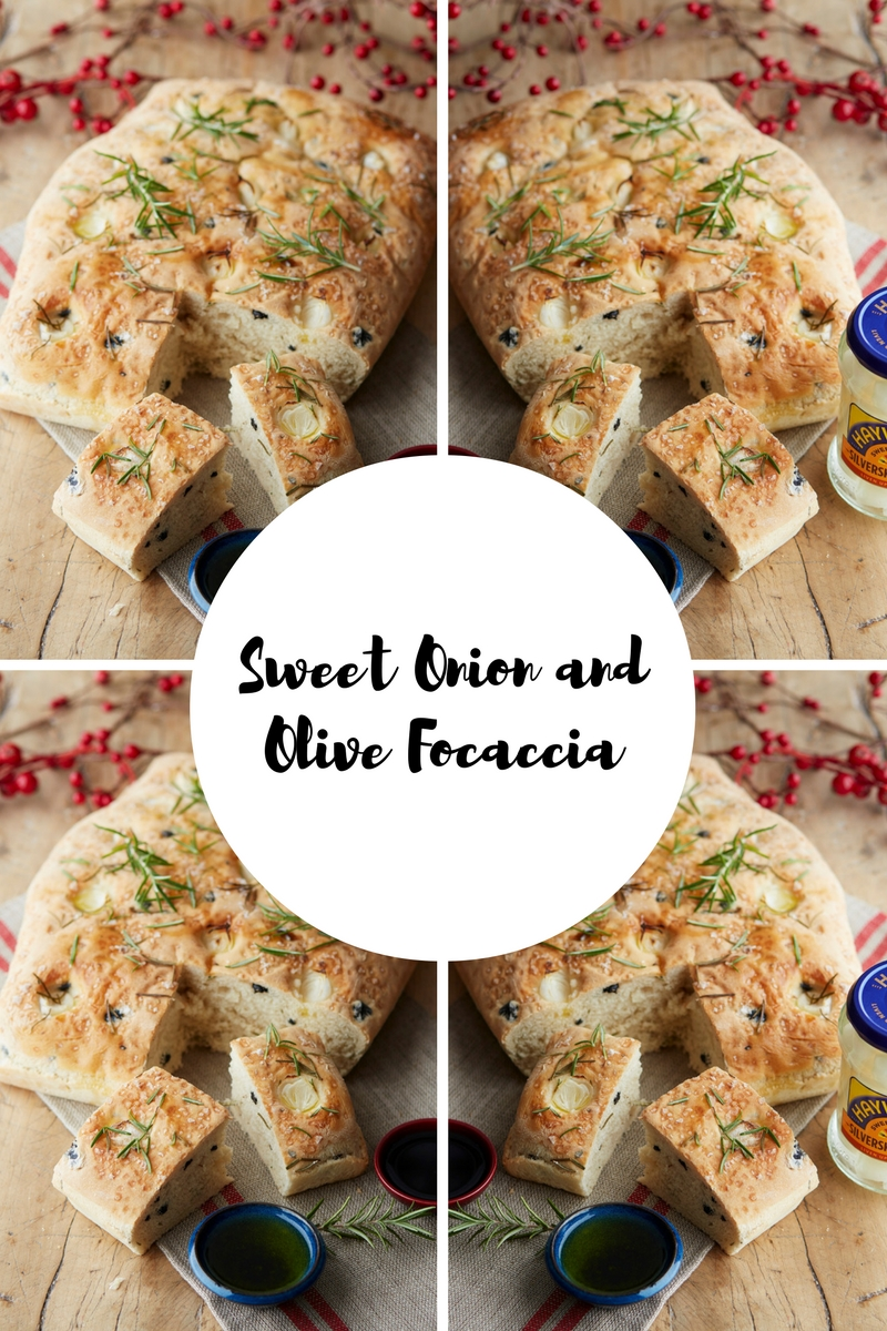 Sweet Onion and Olive Focaccia: Bread Made Easier