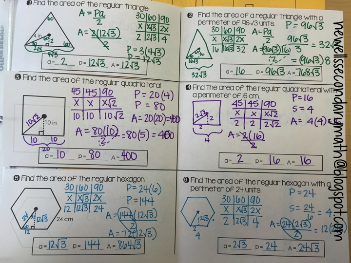 Area of Regular Polygons Mrs Newells Math – Areas of Regular Polygons Worksheet