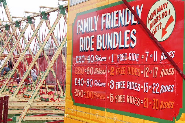 Family friendly ride bundle prices at Carters Steam Fair.