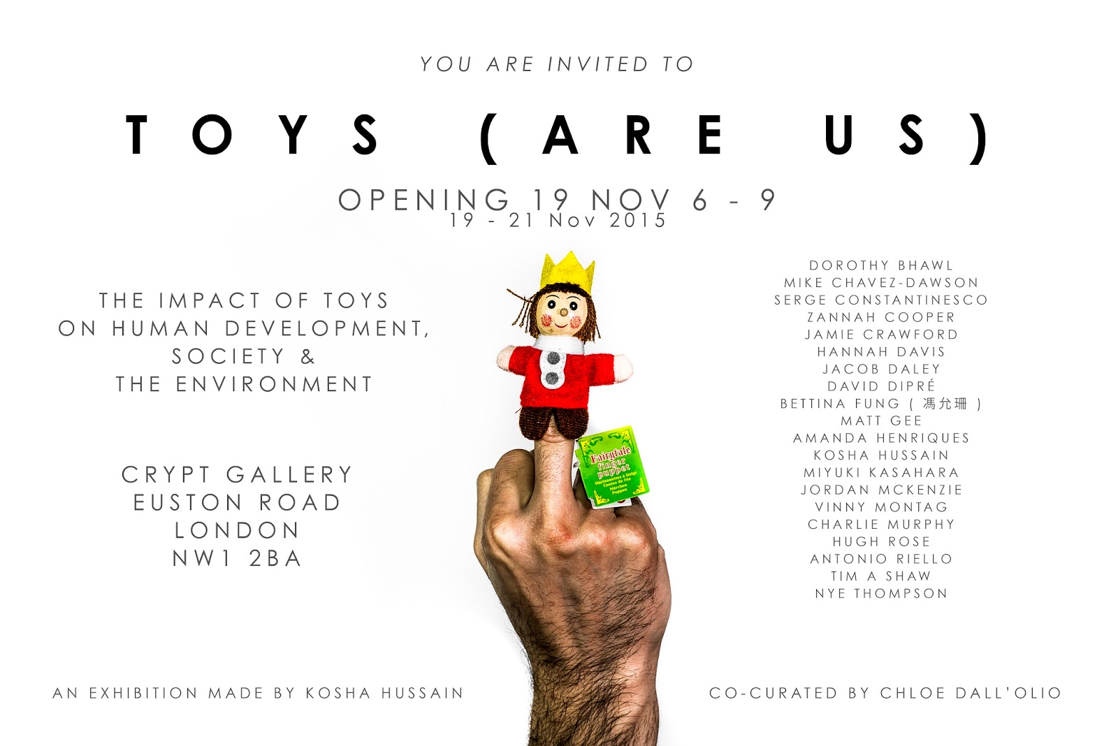 wayne chisnall s artwork toys are us as kosha explains on his tumbler page when choosing the right photo for the flier the concept behind the image is a homage to the short essay that