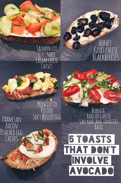 5 Toasts that Don't Involve Avocado