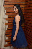 Radhika Mehrotra in a Deep neck Sleeveless Blue Dress at Mirchi Music Awards South 2017 ~  Exclusive Celebrities Galleries 089.jpg
