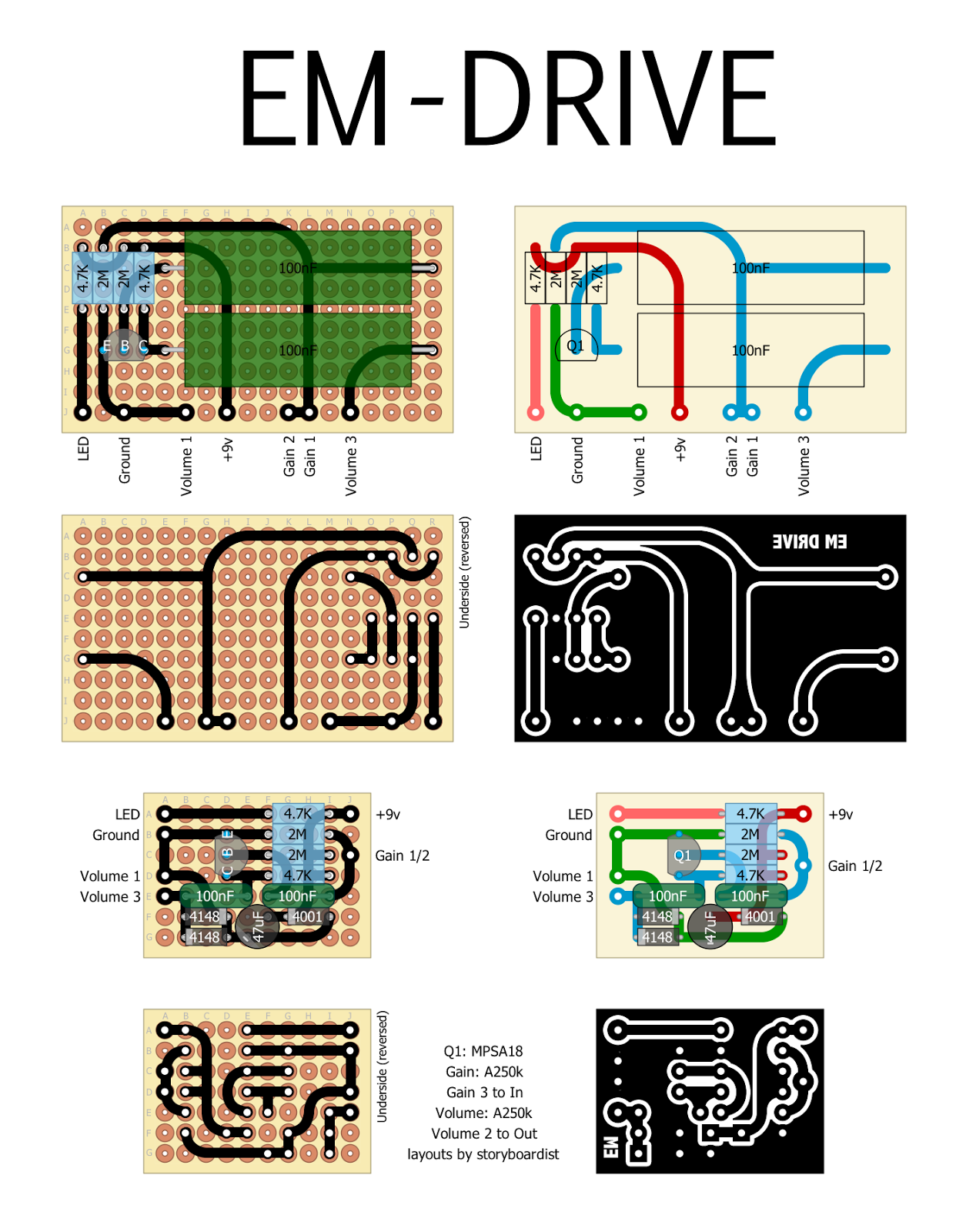 Perf And Pcb Effects Layouts Emerson Customs Em Drive Schematics