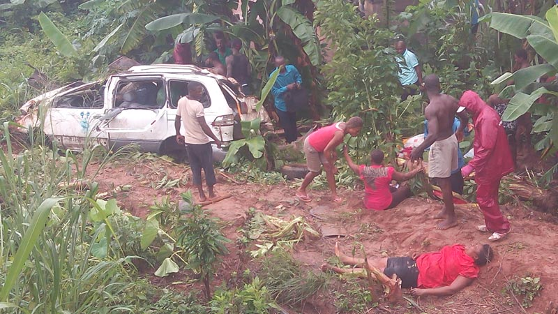 Driver disappears as 1 die, 4 injured in road accident in Anambra